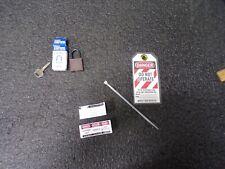 Brady Compact Lockout Tagout Padlock Personal Safety Kit 123143 Brown Mj