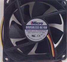 iMicro - CA-FAN80PW - 80mm Sleeve Bearing Computer Cooling Case Fan
