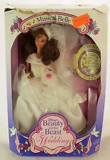 Mattel Beauty and the Beast Wedding Musical Belle Doll Used with Box