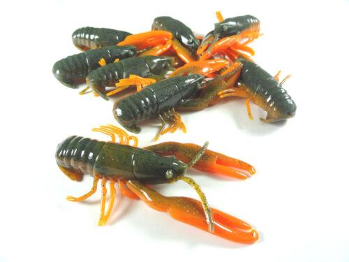 "3/"" Soft Plastic Crawfish Fishing Lure 8 - PACK"