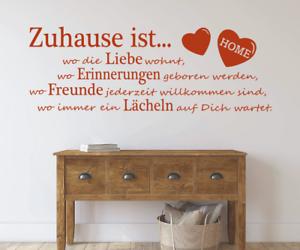 X4491-Wandtattoo-Spruch-Zuhause-Liebe-Freunde-Sticker-Wandaufkleber-Aufkleber