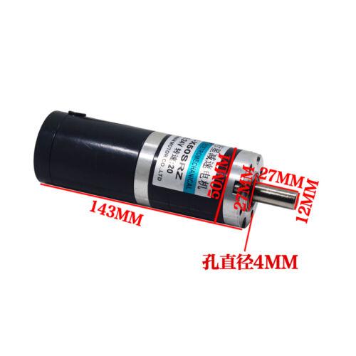 DC12//24V 15W 4-900RPM Planetary Gear Reducer Motor X50SRZ Low Speed Motor CW//CCW