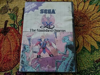 Water Damage Superior Sega Master Quality Case / Box Only In Authentic Lower Price with Ys The Vanished Omens