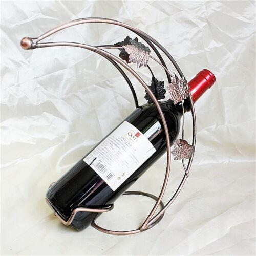 New Kitchen Metal Stylish Wagon Household Wine Bottle Rack Holder Bar Decoration