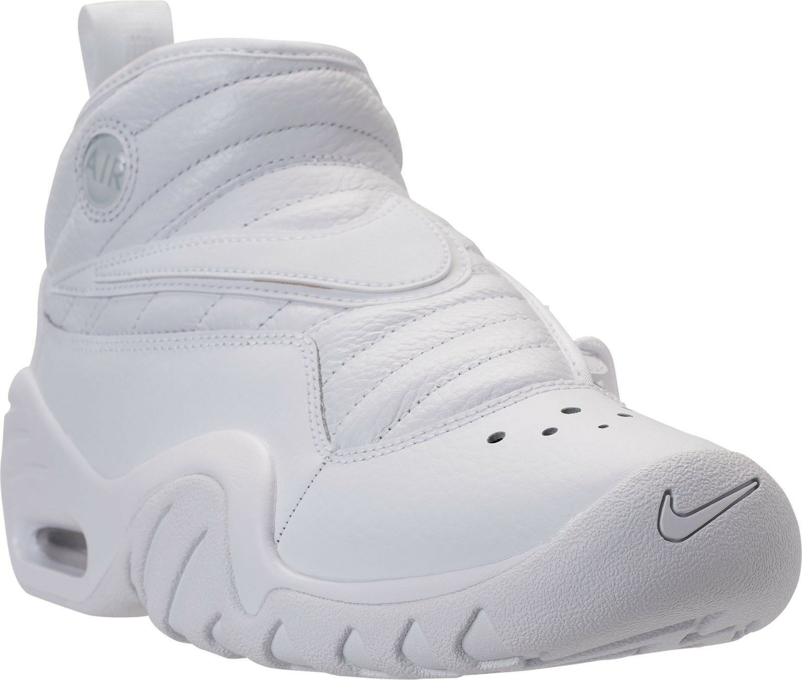 Gli uomini le scarpe scarpe nike air atletico scarpe le da basket ndestrukt cuoio bianco d1dff2