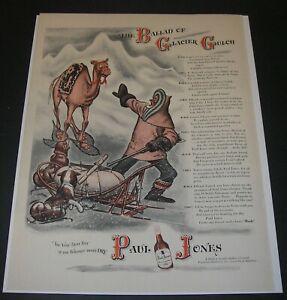 Print Ad 1943 Paul Jones Whiskey Cartoon ART Camel/Miner Ballad of Glacier Gulch