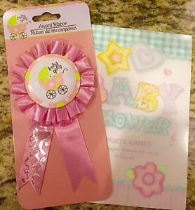 Pink Baby Girl Baby Shower Award Ribbons 6 And Baby Shower