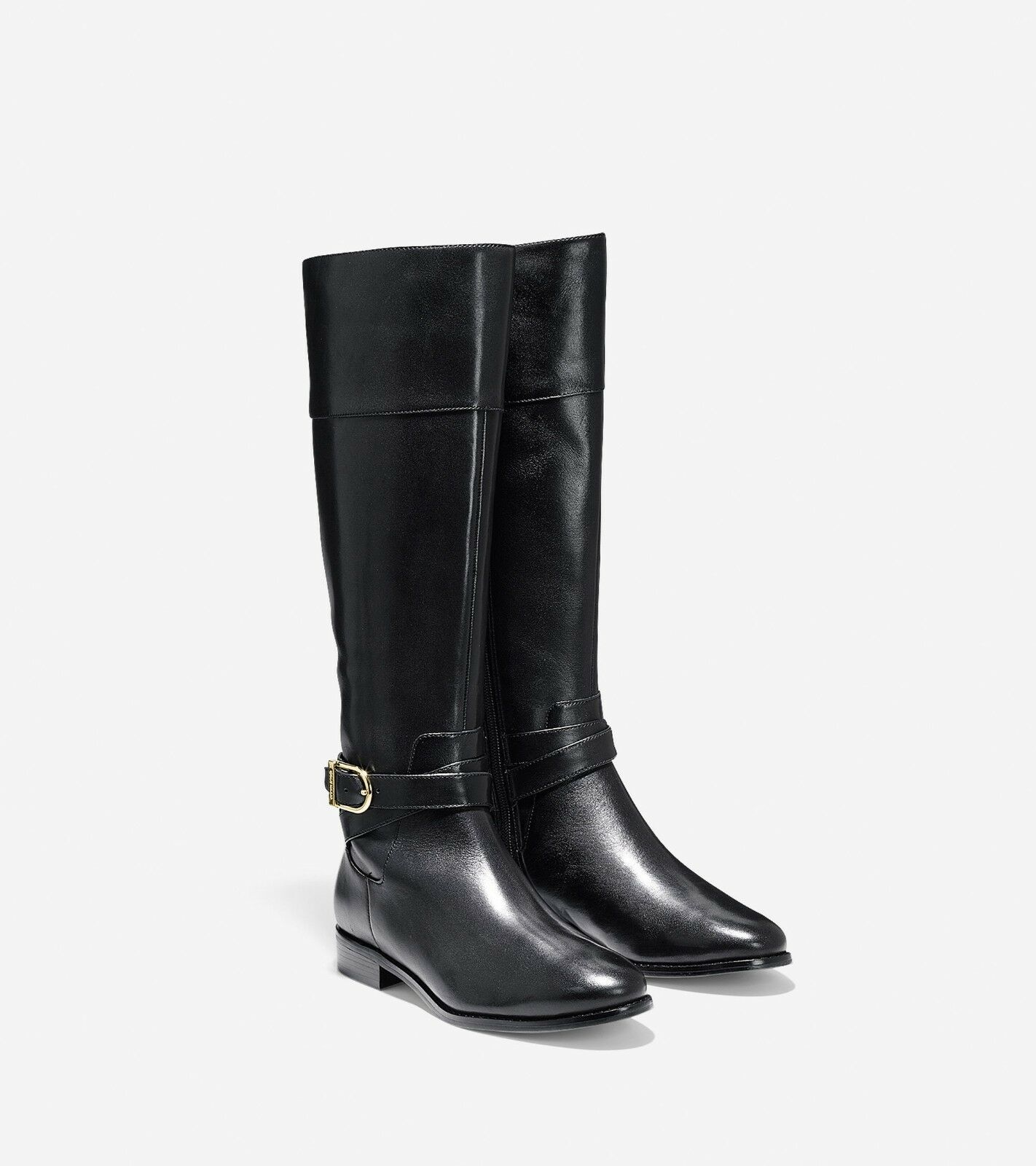 NWT 398  Cole Haan Black Leather Women's Air Tall Boot US Size 7.5B