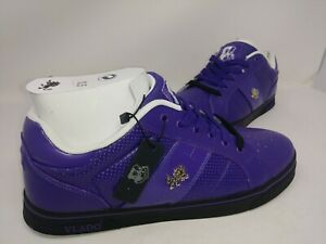 NEW-Vlado-Men-039-s-Classic-Low-Leather-Sneakers-Purple-Black-IG-2031-802-W112-pp