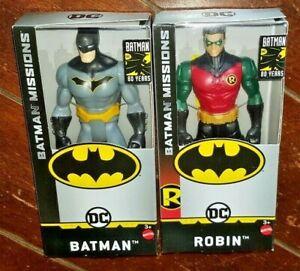"Mattel 6/"" Batman Mission Figures NIB Choose from Batman Joker and Robin!!!!"