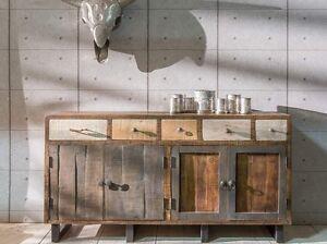 Das Bild Wird Geladen Unikat Sideboard PRIYA I Anrichte Kommode Wohnzimmerschrank Vintage
