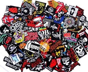 Random-Lot-of-Rock-Band-Patches-Iron-on-Music-Punk-Roll-Heavy-Metal-Sew-Set
