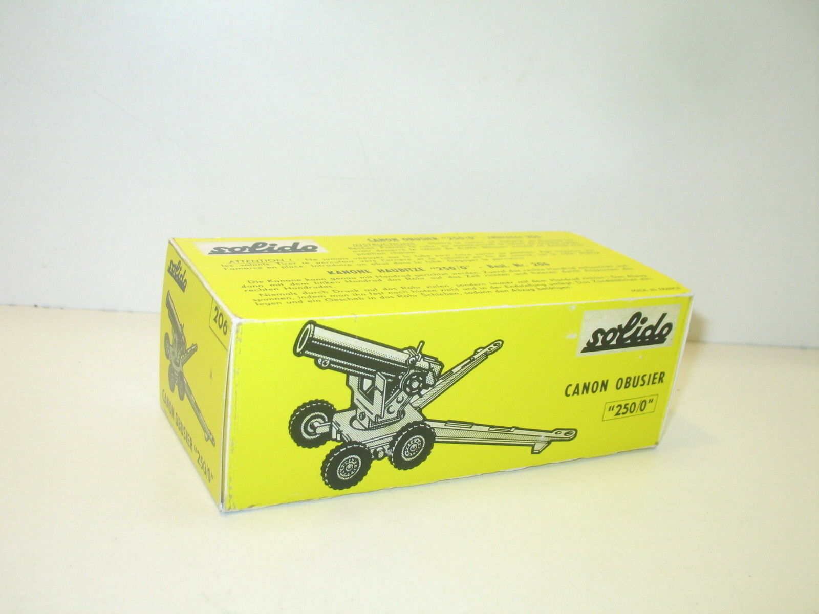 N07, Box canon HOWITZER military repro SOLIDO