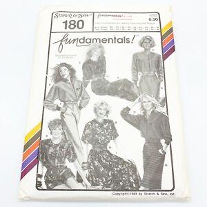 Stretch-amp-Sew-Vintage-Sewing-Pattern-180-FUNdamentals-Separates-30-46-32-48