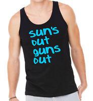 Suns out guns out vest | sleeveless t-shirt 22 jump street gym train tee 0029