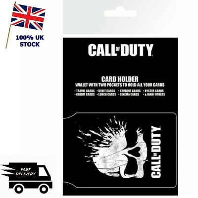 NEW CALL OF DUTY Card Holder Gaming Oyster Travel Pass Wallet ID