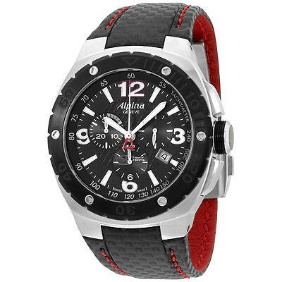 Alpina Racing Black Dial Black Leather Strap Men's Watch AL352LBR5AR6