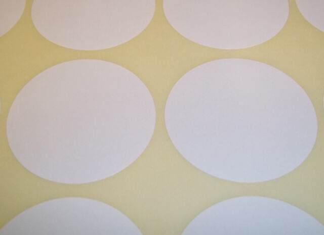 100 White 15mm (1/2 Inch) Colour Code Dots Round Stickers Sticky ID Labels