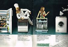 PUBLICITE ADVERTISING 055  1969  FRIGIDAIRE  lave linge lave-vaisselle ( 2 pages