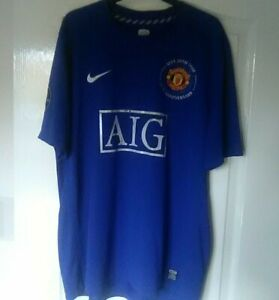 the best attitude 12e18 1b0e8 Details about Mens Manchester United 2008/2009 Shirt Size XL Ronaldo 7 CR7  40th Anniversary