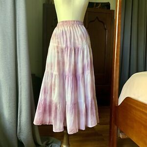 DYED PETALS Eco-Dyed Tie-Dyed Skirt Purple M
