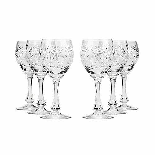 Set of 6 Neman Glassworks, 2-Oz Hand Made Vintage Russian Crystal Shot Glasses