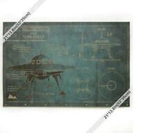 Large Vintage Style Retro Paper Poster gift 71cm*46.5cm(28*18inch) UFO design