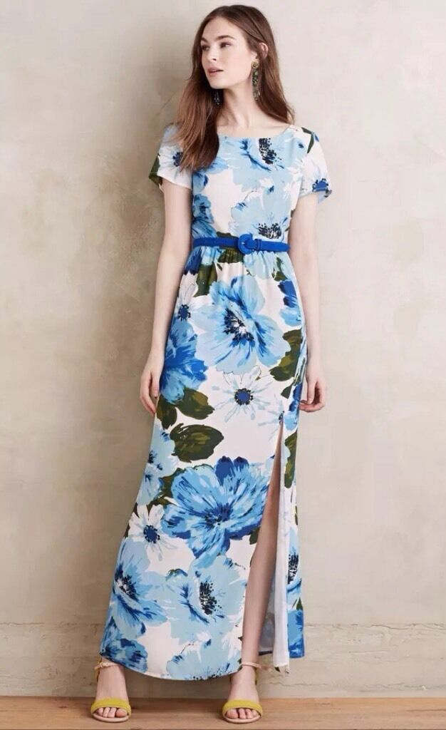 Anthropologie Dayflower Maxi Dress by Paper Crown Sz S