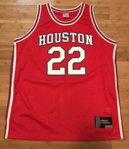 low priced 3eac5 1b6a3 Details about Houston Cougars NCAA Adidas Red Clyde Drexler #22 XXL  Basketball College Jersey
