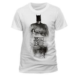Official-Batman-Silhouette-T-Shirt-Justice-League-White-S-M-L-XL-XXL