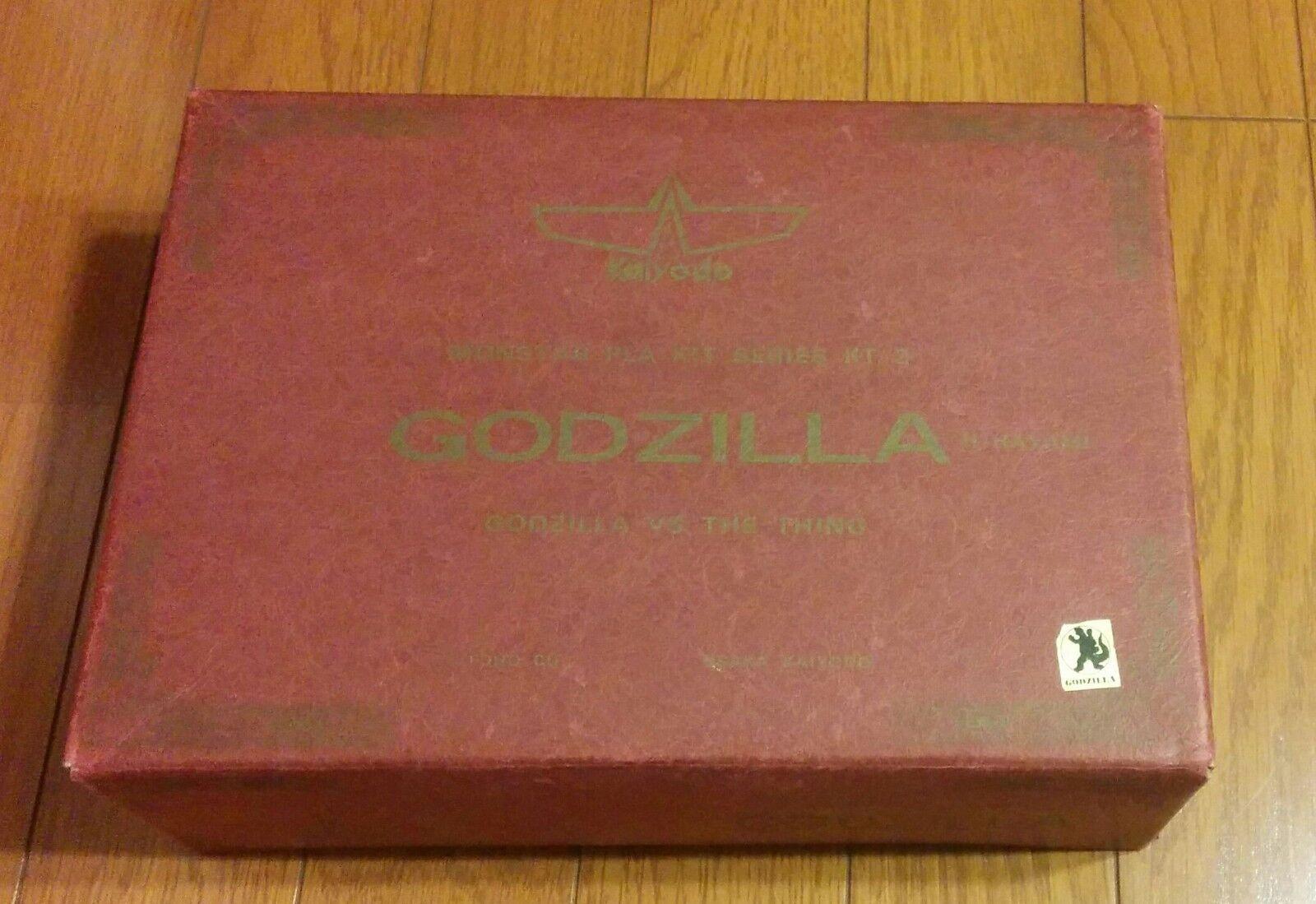 Kaiyodo Godzilla vs. the Thing Urethane Resin Cast Model Kit Rare Japan Kaiju