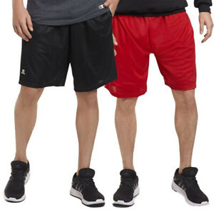 Russell-Athletic-Mens-Shorts-With-Pockets-Mesh-Moisture-Wicking-Gym-Activewear