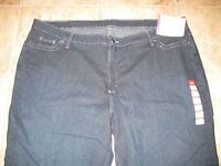 WOMENS PLUS SIZE 26W BOOT CUT JEANS BY CHIC **NWT** DARK DENIM