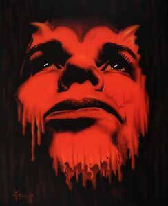 Jannys-ART-Teufel-Kunst-Malerei-handgemalt-Acryl-Gemaelde-Bild-Leinwand