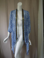Chico's Print 3/4 Cardigan Top Size 1