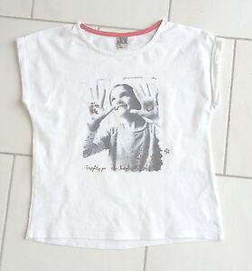 Tee-shirt-fille-10-ans-TAPE-A-L-OEIL-manches-courtes-blanc-avec-motif-photo