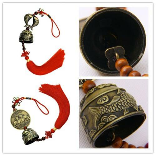 Oriental Lucky Bell Brass Hanging Bell Charm Pixiu Wind Chime Chinese Knot