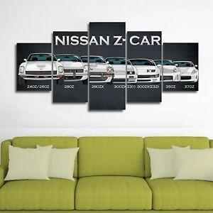 Nissan Z Car Evolution 5 Pieces Canvas Wall Art Poster Print Home Deco Ebay