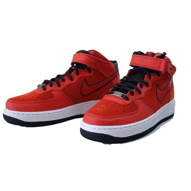 WOMEN'S NIKE AIR FORCE 1 '07 MID SUEDE BASKETBALL SHOE Size 11 (red/black)
