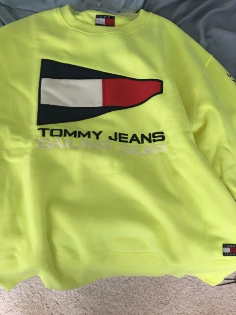 c175b4432 Tommy Jeans Tommy Hilfiger Sailing Gear Neon Sweatshirt Men's XL New With  Tags