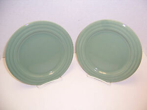 Pier-1-New-Essentials-Sage-Green-2-Salad-Dessert-Plates-8-5-8-Ironstone-Brazil