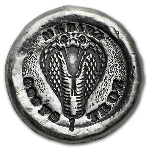 1 oz Hand-Poured Silver Round - Cobra Attack - SKU#167154