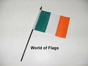 "Ireland Erin Go Bragh Small Hand Waving Flag 6/"" x 4/"""