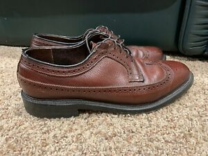 Executive-Imperials-Mens-Size-9-5-M-Dress-Shoes-brown-Leather-Wingtip-Oxfords