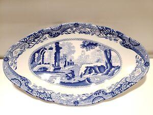 "Spode Blue Italian Oval Plat 7"" X 4"" Spode Italian Relish Plat Candy Dish-afficher Le Titre D'origine Y8l3rkvk-07234713-466385474"