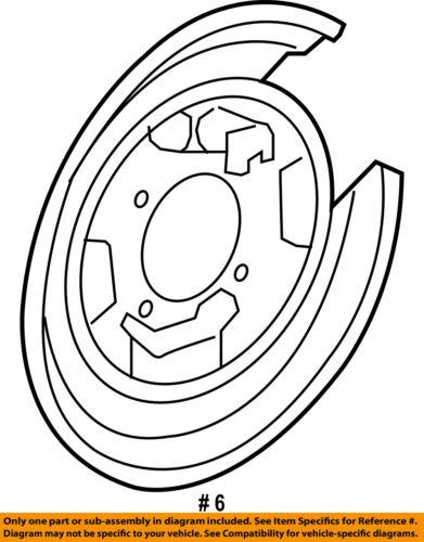 HONDA OEM Rear Brake-Backing Plate Splash Dust Shield 43110STKA02