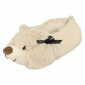 Ladies-X2092-Teddy-Bear-Slippers-By-Spot-On-Retail-Price-12-99