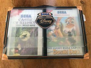 Coffret malette SEGA MS Disney Software Donald Duck Mickey Castel of illusion