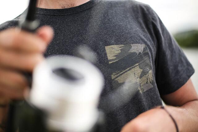 Korda - Faux Pocket T-Shirt - Charcoal