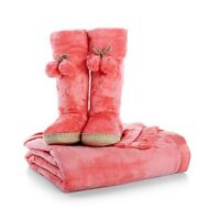On Sale Soft & Cozy Throw & Booties Set -coral 2z23h